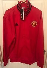 NWT adidas Manchester United Men's Track Jacket Red Black CW7668