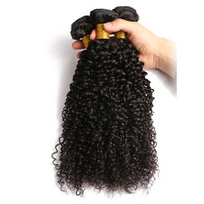 "7A Peruvian Kinky Curly Virgin Human Hair Wefts Hair Extensions 300G 14""+16""+18"""