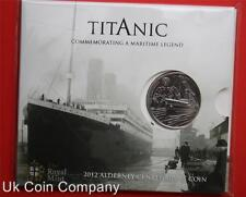 2012 Alderney Brilliant Uncirculated £5 Coin Titanic Royal Mint Sealed In Pack