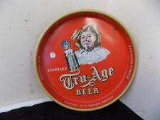 VINTAGE TRU AGE BEER METAL TRAY STANDARD BREWING SCRANTON PA