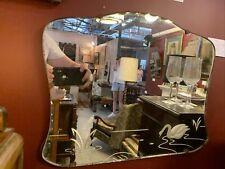 1920's Art Deco Etched Swan Mirror
