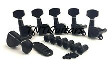 Dragonfire MODERN SEALED Tuners, Tuning Keys 6 inline Right, BLACK Set of 6 Pegs