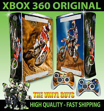 XBOX 360 CONSOLE STICKER MOTORCROSS MOTO X KTM MOTORCYCLE SKIN + 2 X PAD SKINS
