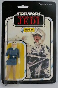 Vintage Star Wars PALITOY Han Solo (Hoth Outfit) MOC 65 back
