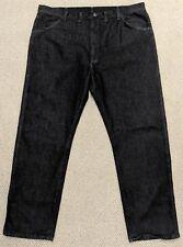 Wrangler Black Denim Jeans 44x32 Cotton Blend Stretch Men's
