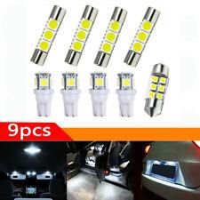9pcs Car Interior LED Light Bulbs For Map Dome License Plate Lamp Kit Parts