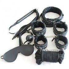 7pcs/set Adult Leather Bondage Fetish BDSM Handcuffs Ankle Cuffs Restraints