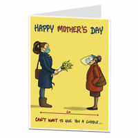Funny Mothers Day Card For Mum From Daughter Lockdown 2021 Design