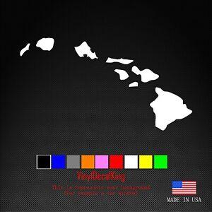 Hawaiian Islands Map vinyl decal - Hawaii window laptop car bumper sticker phone