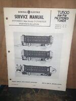 General Electric TU500 FM Tuner -Service Manual-schematics, Parts List.