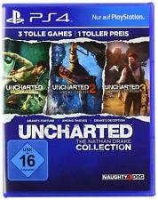 Ps4 jeu UNCHARTED the Nathan Drake Collection 1-3 VERSION ALLEMANDE article neuf