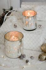 Windlicht 2erset Bauernsilber Stern Kerzenleuchter Weihnachten Xmas Shabby