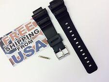 16mm Fits CASIO DW-6900 G-Shock Black PVC Watch BAND Strap DW-6900B DW-6600 pins