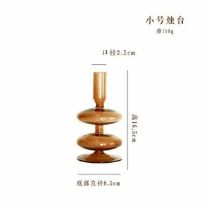 Desktop Household Decorations Candlestick Holder Retro Styles Glass Material New