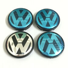 4PCS Original 55mm Wheel Hub Center Cap Emblems Car Badge For VW Golf Jetta Bora