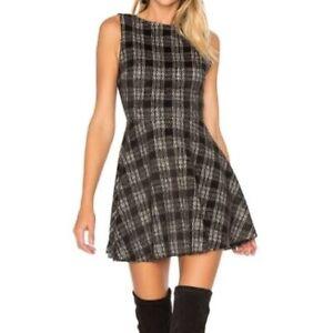 Alice + Olivia Monah Plaid Dress Check Checked