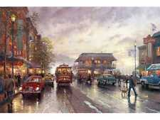 Thomas Kinkade framed CITY BY THE BAY Canvas 24 x 36  New Signed Remarque