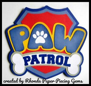 PAW PATROL TITLE cartoon character die cut for Premade Scrapbook Pages by Rhonda