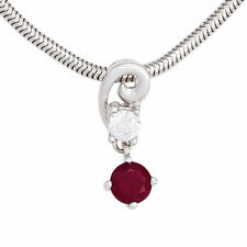 Echte Edelstein-Halsketten & -Anhänger aus Weißgold mit Rubin für Damen