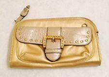 Kathy Van Zeeland Gold Clutch Bag Purse