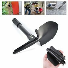 5in1 Folding Army Snow Shovel Tactical Survival Multi Camping Tool w Compass Bag