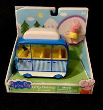 "Peppa Pig Little Holiday Camper Van Blue & White 5"" w/ Vacation Peppa Figure"