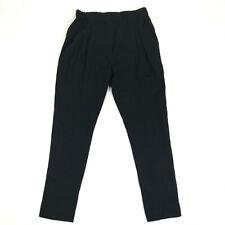 3.1 Phillip Lim Womens Stretch Elastic Waist Pull On Pants Black Silk Size 2