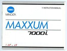 Minolta cámara manual de instrucciones Maxxum 7000i User manual en inglés (y78