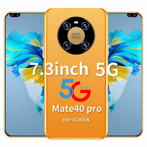 7.3 Inch Mate40 Pro MT6889 Deca Core 8G RAM 256G ROM 6800mAh Battery 5G LTE