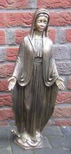 NEU! BRONZE Maria Statue betende Hände Mutter Gottes Madonna Grab Figur Skulptur