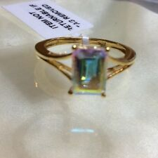 1.75 Ct, Mercury Mystic Topaz Ring, Solitaire, Sterling Silver, Size L