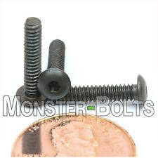 "#4-40 x 9/16"" - Qty 10 - BUTTON HEAD Socket Cap Screws  Alloy Steel Black Oxide"