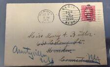 1920 Cover Meriden, Conn, And Elgin, Neb. Postmarks