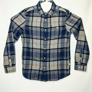 North Face Long Sleeve Arroyo Flannel Shirt Mid Grey Plaid Black Size Small