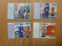 MALTA 2017 POSTAL UNIFORMS SET 4 MINT STAMPS MNH