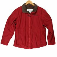 Columbia Women's Red Fleece Lined Jacket - Size Medium