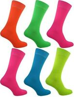 Ladies Super Rock and Roll Fluorescent Neon Fancy Party neon Fashion Socks.