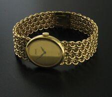Piaget 18K Yellow Gold Luxury Fashion Watch - Heavy Woven Bracelet - Running