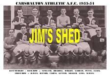 CARSHALTON ATHLETIC F.C.TEAM PRINT 1953-54