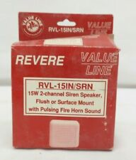 Revere Rvl 15insrn 15w 2 Channel Siren Speaker With Pulsing Fire Horn Sound Nas