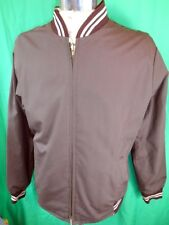Vintage 70s Brown & Cream Reversible Simon Kessel Zip Up Cafe Racer Jacket 90cm