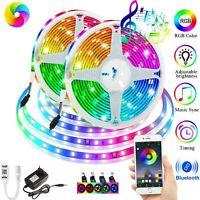 32FT LED 2835 Strip Lights Music Sync 10M Bluetooth APP Remote Bedroom RGB Light