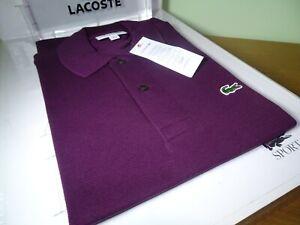 LACOSTE MENS L1212 CLASSIC FIT POLO SHIRT FR 3/5 S/L RRP:- £80