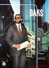 1979 Simpson 'DAKS' Men's Clothing Advert #3 - Original Fashion Print AD