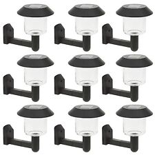 10 Clear Solar Powered Wall Bright Illuminated LED Light Outdoor Garden Security