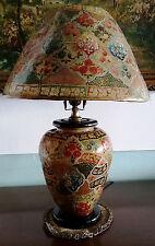 VINTAGE Handmade Rare Multan Art Camel Skin Table Lamp..