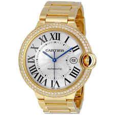 Cartier Ballon Bleu Silver Dial 18k Yellow Gold Men's Watch WE9007Z3 Watches Product Description