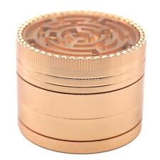 "2"" Maze Top 4 Piece Grinder Herb Spice Crusher ROSE GOLD / GOLD Color"