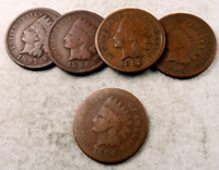 (1) 1800's Indian Head Penny Coin // 1859-1899 // Good or Better