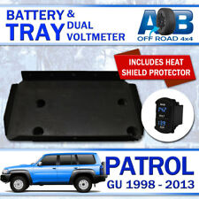 DUAL BATTERY TRAY & VOLT METER for NISSAN PATROL GU 3.0L 4.2L Diesel 1998 - 2013